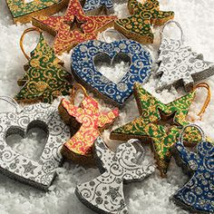 Recycled handmade paper hanging decorations