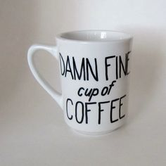 Twin Peaks Damn Fine Cup of Coffee Mug white by MoonriseWhims