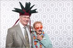 Guests of all ages love to get into the fun! Love the backdrop too.The Live Photobooth, Arizona #Wedding #Photobooth #reception