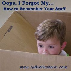 Giftie Etcetera: 3 Brilliant Ways to Remember Your Stuff When You Leave the House --- productivity --- errands  Repin!