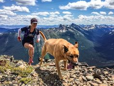 Heather Bretschneider follows her pup, Macy, to the rocky summit of Mount Frosty in Manning Park, British Columbia. Photo by Jamie Douglas; Editor's Choice (aka free trail-running shoes!) in our September issue