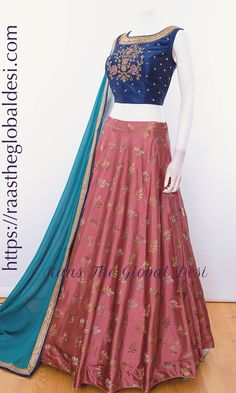 GARBA CHANIYA CHOLI 2019 Latest designer & custom-made Chaniya Choli's exclusively online.Browse our beautiful designer collection ! Available in the USA, Canada & Australia! Indian Wedding Gowns, Pakistani Bridal Dresses, Indian Dresses, Indian Outfits, Western Dresses, Indian Clothes, Lehnga Dress, Lehenga Gown, Party Wear Lehenga