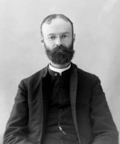 This Catholic priest in the U.S. around 1880 is wearing a typical Victorian clergyman's vest: Chasuble