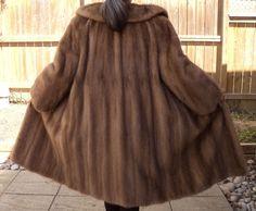 Ladies Pastel Mink Fur Coat Longer L- XL Sizing Light Beige Vintage #MasterFurrierMade #BasicCoat