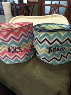 Monogrammed Easter baskets