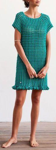 Helen Rödel Gout Crochet Mini Dress