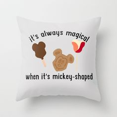 Disney Food Throw Pillow