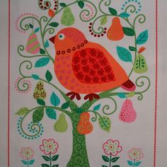MM Partridge's Pear Tree 58cm Panels STAINED