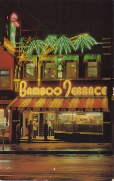 Bamboo Terrace neon sign in Vancouver British Columbia. Photo by SwellMap. Old Neon Signs, Vintage Neon Signs, Neon Light Signs, Old Signs, Led Neon, Architecture Restaurant, Terrace Restaurant, Retro, Tiki Lounge