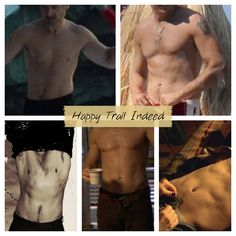 Jeremy Renner.  I do respect his talent and intellect and personality ... But this ain't bad either!  :)  Happy trails indeed.