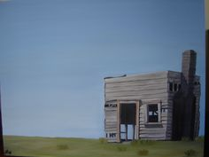 sheds and buildings from around NZ-my mothers painting