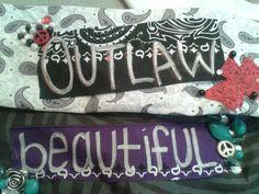 Beautiful Headband and Outlaw Headband by DoubleSRodeoCo on Etsy, $20.00