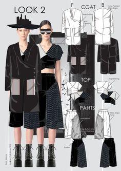 Scalloped-neckline tops Design By Adobe illustrator CC part- 1 Fashion Illustration Portfolio, Fashion Design Sketchbook, Illustration Mode, Fashion Design Drawings, Fashion Sketches, Mode Portfolio Layout, Fashion Portfolio Layout, Portfolio Ideas, Fashion Line