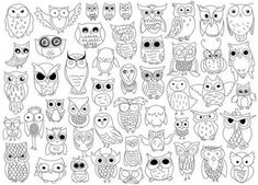 Owl Doodles by The Crafty Frugaler Owl Doodle, Doodle Art, Coloring Books, Coloring Pages, Colouring, Doodles, Pet Rocks, Owl Art, Doodle Drawings