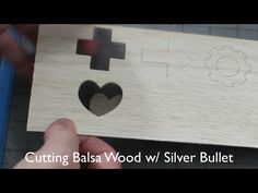 Cutting Balsa Wood with the Silver Bullet Professional Series Machine - YouTube