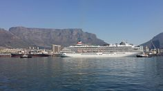 Asuka 2 departing Cape Town Harbour