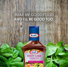 Make me good food and I'll be good too.  #KraftRD #KraftQuotes