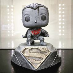 "Superman Custom Funko Pop by Abbernaffy Customs (@abbernaffy_customs) on Instagram: ""Check out the display @stewmurray47 used for the stone custom I made. It looks rad displayed like…"""