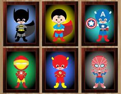 FLASH SALE Digital Superhero Wall Art by GraphicsByColton on Etsy