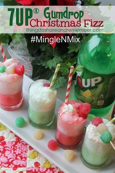 7UP®️️ Gumdrop Christmas Fizz Recipe #MingleNMix #Ad