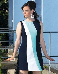 MADEMOISELLE YEYE Tilda 60s Mod Structured Panel A-Line Dress Vintagemode dc24682f6