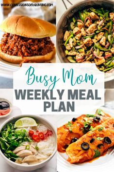 Sometimes moms have to keep going no matter how tired we are. Let our weekly meal plan for persistent moms help you out so you can relax a little more! // Confessions Of Parenting -- Family Meal Planning, Planning Budget, Family Meals, Dessert, Recipe For Mom, Chef, Meals For The Week, Slow Cooker Recipes, Meal Prep