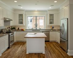 Interesting Kitchen Bulkhead Pictures To Apply At Your Home: Excellent Kitchen Bulkhead Pictures Combined With White Kitchen Islan And White Cabinet ~ networkomega.net Decorating Ideas Inspiration