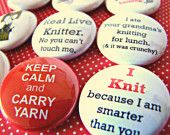 Fun knitting buttons
