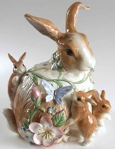 fitz and floyd rabbit figurine Cute Cookies, Easter Cookies, Happy Easter, Easter Bunny, Baby Bunnies, Vintage Cookies, Vintage Cookie Jars, Decoration Table, Cookies Et Biscuits