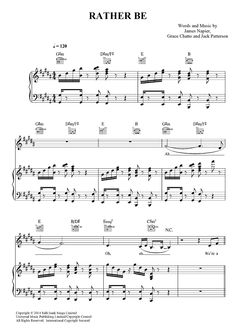 """Rather Be"" by Clean Bandit Sheet Music: www.onlinesheetmusic.com"