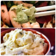 Wasabi Smashed Potatoes