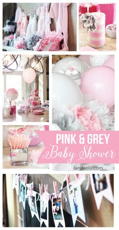 Pink and Grey Baby Shower full of Ideas  with lots of photos to inspire!   landeelu.com