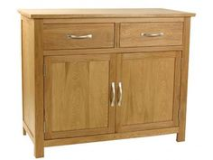 Essentials Oak 2 Door 2 Drawer Sideboard Mix of Oak and Oak veneers £279.00
