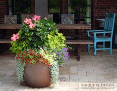 Container Gardening: Unique by Design l Hannah Weis Container Flowers, Container Plants, Container Gardening, Plant Containers, Large Containers, Garden Yard Ideas, Garden Pots, Garden Landscaping, Part Shade Plants