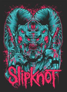 Slipknot Merchandise Graphic by Robin Clarijs Black Metal, Heavy Metal Art, Nu Metal, Heavy Metal Bands, Rock Posters, Band Posters, Retro Posters, Hard Rock, Digital Foto