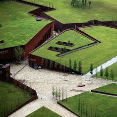 In commemoration of China's deadliest earthquake in the Sichuan province over 8 years ago. Architect Cai Yongjie designed the 'Wenchuan Earthquake Memorial Museum.' The structure's scheme takes the form of a ruptured landscape with green roofs to create a simultaneously connected site.