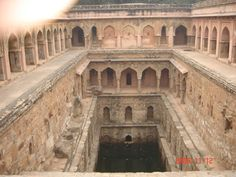 Rajaon ki Baoli (ancient tank), Mehraulli, New Delhi,