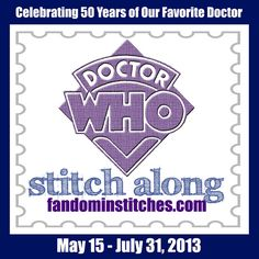 Fandom In Stitches Doctor Who Stitch Along...celebrating 50 years of our favorite Doctor with hand embroidery!