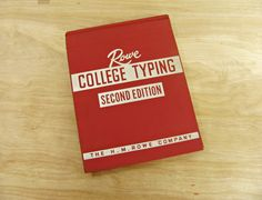 Vintage Book Rowe College Typing Second Edition Typing Textbook Typing Book Mid Century Typing Typewriter Book Red Book H. M. Rowe Company by HipCatRetroVintage on Etsy