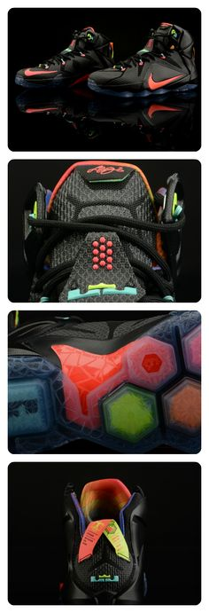 c6a55b827fb 11 straight seasons of filling up the stat sheet inspired this Nike LeBron  12 colorway.