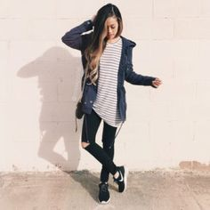 outfits chic escuela mujer