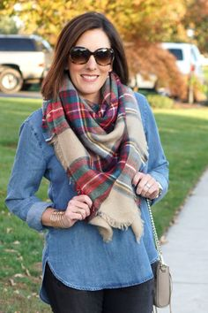 In this post, I share 3 Super Easy Ways to Tie a Blanket Scarf. It just takes a bit of practice, and you'll be styling your scarves like a pro!