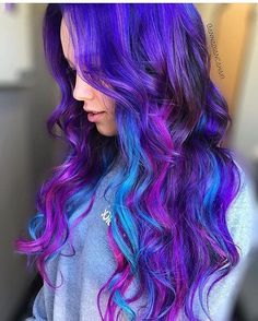 40 Best Funky Colored Hair That Look So Carefree Hair Color Ideas multi colored hair ideas Funky Hair Colors, Vivid Hair Color, Pretty Hair Color, Hair Dye Colors, Ombre Hair Color, Galaxy Hair Color, Funky Hairstyles, Pretty Hairstyles, Hairstyle Men