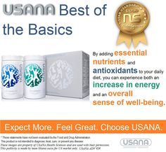 The Essentials™  Mega #Antioxidant™ and #MultiMineral Plus make up #USANA's Essentials™ of great #nutrition; daily #vitamin, #antioxidant and #mineral #supplement for adults. Together, they have repeatedly been given top rankings in the NutriSearch Comparative Guide to Nutritional Supplements. New USANA customers start with the Essentials to build a strong foundation of health. It is Your choice, your life, your health, your way!