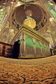 Inside shrine of Imam Ali [as]