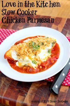 Slow Cooker Parmesan Chicken via Love in the Kitchen