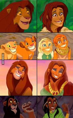 Some things should not be seen..! The Lion King character as human !? WTF ?!8 Well done !