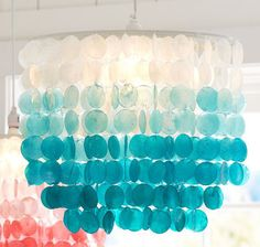 Ombre Capiz Chandelier via Everything Turquoise