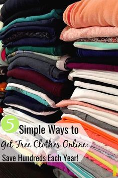 You can get free clothes online to save money. Here are 5 real ways to get free clothes from companies to help lower costs to outfit your family. Make Money Fast, Ways To Save Money, Money Saving Tips, Make Money Online, Saving Ideas, Money Tips, Living On A Budget, Frugal Living Tips, Frugal Tips