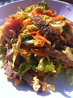 David Hall: Asian Beef, Savoy and Peanut Salad